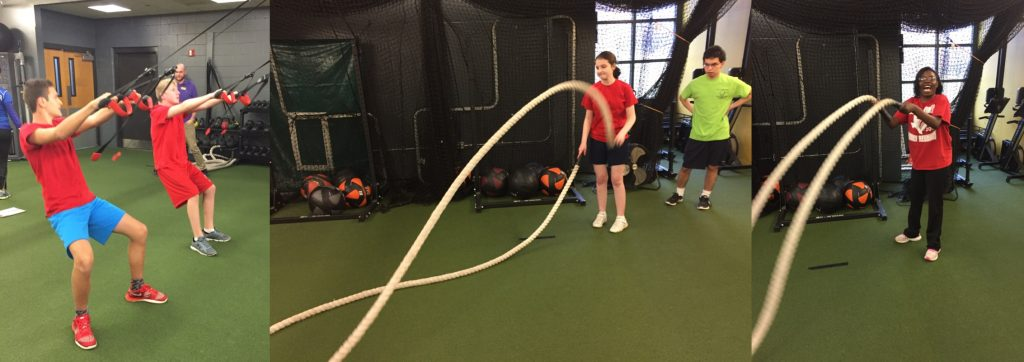 Rope work at the gym