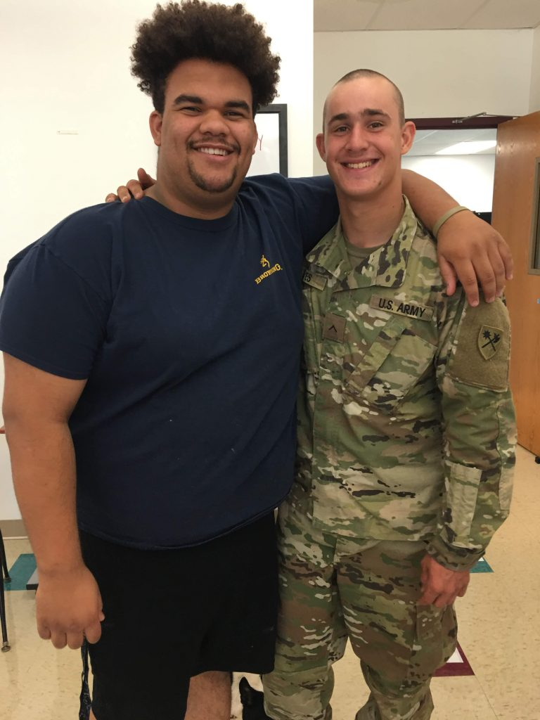 Senior Zac and Alumni Private First Class Eaves